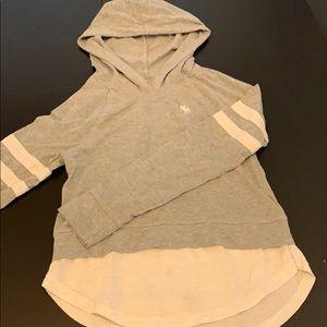 Grey hoodie.